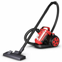 Vacuum Cleaner Canister Bagless Cord Rewind Carpet Hard Floor w HEPA Filtration
