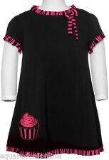 86331 Black & Pink Kids Cupcake Wednesday Striped Dress Sourpuss Baby Punk 12M