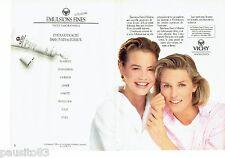PUBLICITE ADVERTISING 116  1988   Vichy  (2p) crémes  émulsions fines