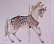 John Westcott Limited Edition M. Illions Carousel Horse Print Signed/Numbered