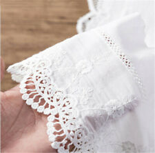 1 Yard Embroidery Floral Cotton Lace Trim Ribbon Wedding Fabric Sewing 14cm Wide