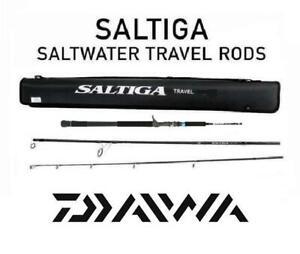 "Daiwa Saltiga Travel Rod 7'4"" Medium Casting With Travel Case SATR743MB"