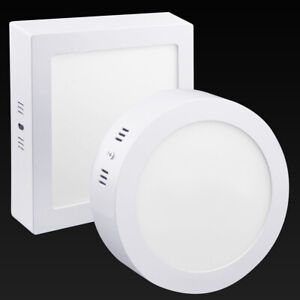 18W LED White Body Surface Mount Ceiling Panel Down Light Bright Cool White