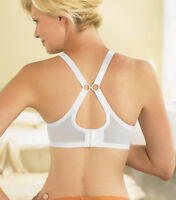 GLAMORISE Bra STRETCH 2-In-1 CONVERTIBLE Straps! ~QUICK DRY~ White Lace NEW $40