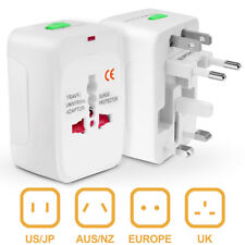 Electrical US/EU Universal Multi Purpose Travel Adapter Converter AC Power Plug