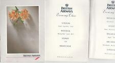 3 BRITISH AIRWAYS ECONOMY CLASS MENUS - LONDON / BANGKOK / SYDNEY / MELBOURNE