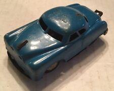 Vintage 1940's 50's Blue Tin Friction Car