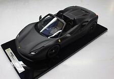 BBR Ferrari 488 Spider Matt Black  LE of 5pcs 1:12 BBR1206MB1*New!