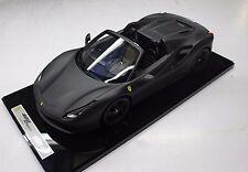 BBR Ferrari 488 Spider Matt Black  LE of 5pcs 1:12 BBR1206MB1*New!