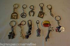 Ensemble de 11 portes clefs de collection