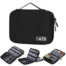 Double Layers Travel Cable Cord Organizer Electronics Accessories Case for Cords