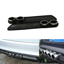 Car Accessories 3D Carbon Chrome Exhaust Tail Pipes Bumper Sticker USA STOCK