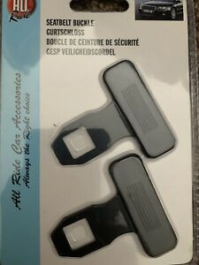 2 x Universal Car Safety Seat Belt Buckle Alarm Eliminator Clip Stop Warning Hot