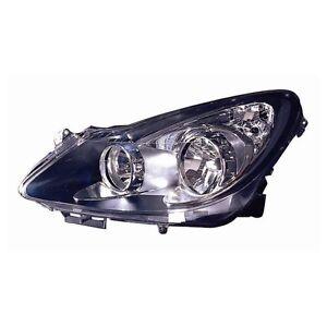 Opel Corsa 2006-2010 Scheinwerfer Projektor H7-H1 Parabel Schwarz Fahren - Links