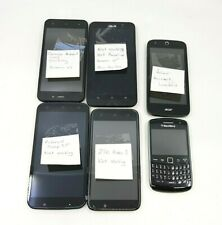 Lot of 6 Polaroid, RCA, ZTE, Acer, Asus, Blackbery Smart Phones (NOT WORKING)™