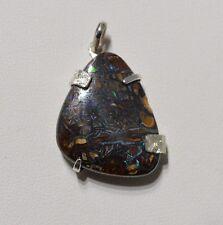 Pendentif argent opale Yowah Boulder 16,30 carats - Natural Opal Silver pendant