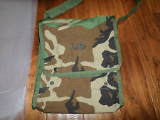 GENUINE U.S MILITARY ISSUE MAP CASE WOODLAND CAMOUFLAGE WITH WATERPROOF INSERTS