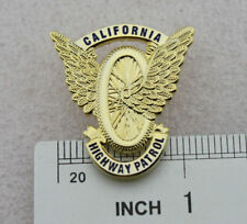 California State Police Gold Badge Highway Patrol Motorcycle Wings CHP Mini PIN