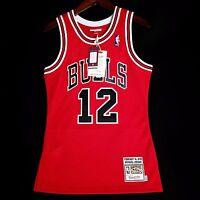 0f1cf8e25af 100% Authentic Michael Jordan Mitchell Ness Bulls  12 V-Day Jersey Size 36