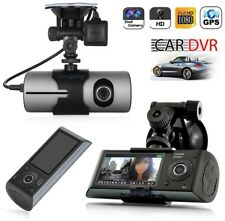 TELECAMERA AUTO DVR VIDEO REGISTRATORE GPS DOPPIA CAMERA HD VIDEOCAMERA MONITOR