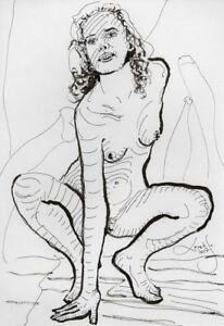 Original Nude Erotik Figure Drawing Picture(30x21)cm1196 DE  act erotic