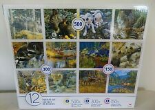 Cardinal Puzzles Set Multi 12-Pack Wildlife Forest Animals 4 x500 4 x300 4 x150