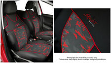Front seat covers fit MERCEDES 190 - VEST SHAPE 2x red