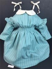 American Girl Kirsten Work Dress and Cream Hair Ribbons~Pleasant Company tag