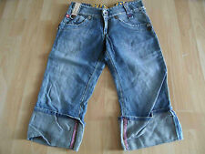 MISS SIXTY coole used look 3/4 Jeans m. Umschlag Gr. 14 J w. NEU RC715