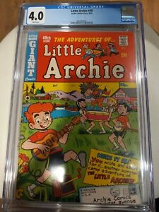 LITTLE ARCHIE #49 1968 CGC 4.0 WHITE pages Highest Grade Top Pop Silver Age