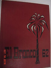 1962 Pan American College Year Book- Edinburg, TX. / El BRONCO .... LQQK