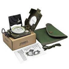 New Army Green Professional Military Army Metal Sighting Compass + Inclinometer