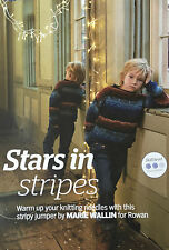 KNITTING PATTERN Boys Striped Jumper Long Sleeve Sweater Childrens Rowan PATTERN