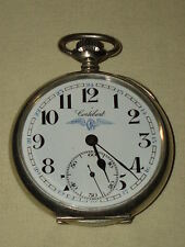 VINTAGE CORTEBERT OPEN FACE POCKET WATCH SWISS MADE TURKISH RAILWAYS!