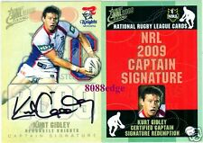 2009 SELECT NRL CAPTAIN SIGNATURE: KURT GIDLEY #46/50 REDEMPTION KNIGHTS