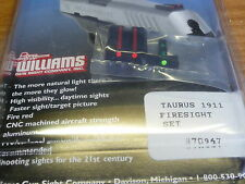 WILLIAMS GUN SIGHT FIBER OPTIC SIGHTS FOR  TAURUS PT 1911 MODEL DOVETAIL MODEL