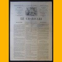 Journal LE CHARIVARI dessins de Cham 8 février 1874