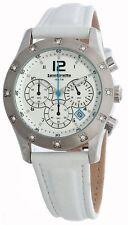 NEW Lambretta Luigi Mid White Leather Chronograph Womens Watch 2120/whi