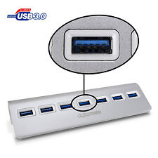 Digitalmate 7 Port USB 3.0 Illuminated High-Speed Hub w/ Non-Slip Mac PC Laptop