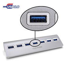 Digitalmate 7 Port USB 3.0 Illuminated High-Speed Hub w/ Non-Slip Mac PC Laptop