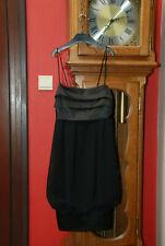 """Robe de soirée """"Zara"""" noire à fines bretelles T36 comme NEUVE pour Noël!!"""