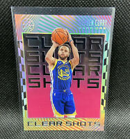 Stephen Curry 2019-20 Illusions Clear Shots Insert Pink Rare #9 NBA Warriors