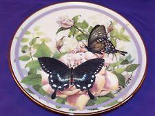Vintage 1986 Hamilton Collectors Plate Spicebush Swallowtail Butterfly Garden #1