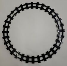 Genuine Lego Black Train Track x 8. Narrow Curve, Part No 85976. Complete Circle