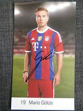 Handsignierte AK Autogrammkarte *MARIO GÖTZE* FC Bayern München 14/15 2014/2015