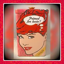 "Benefit Cosmetics Pop Art ""Primed For Lovin"" Collectible Lim-Ed Tin Canister"
