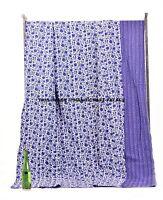 Floral Kantha Quilt King Size Bedding Bedspread Gudri Indian Handmade Blanket