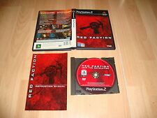 RED FACTION I DE VOLITION INC THQ PARA LA SONY PLAY STATION 2 PS2 USADO COMPLETO