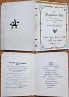 Homestead, PA 1914 Menu: Abyssinian Club, Lincoln Day Banquet - Pennsylvania