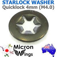 10 x Quicklock Starlock 4mm (M4.0) Speed Lock Washer (star lock locking washer)